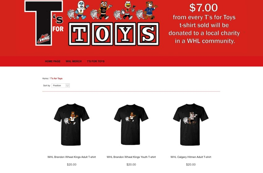Lethbridge Hurricanes Ts For Toys campaign still running