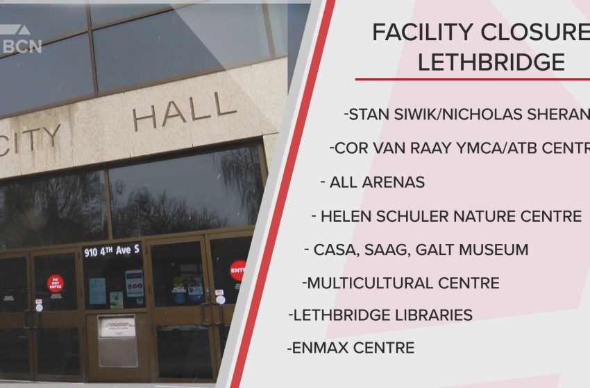 A list of facility closures in Lethbridge