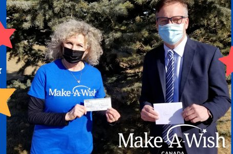 Make a Wish Foundation receives donation from MLA Drew Barnes
