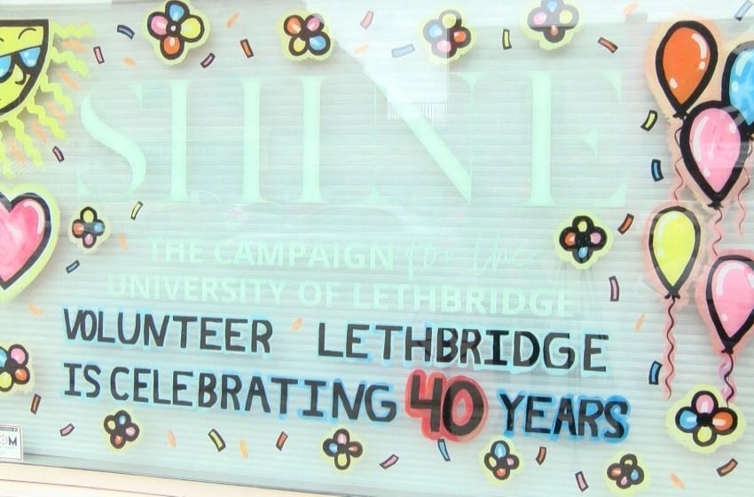 New window art for Volunteer Lethbridge to celebrate 40th anniversary