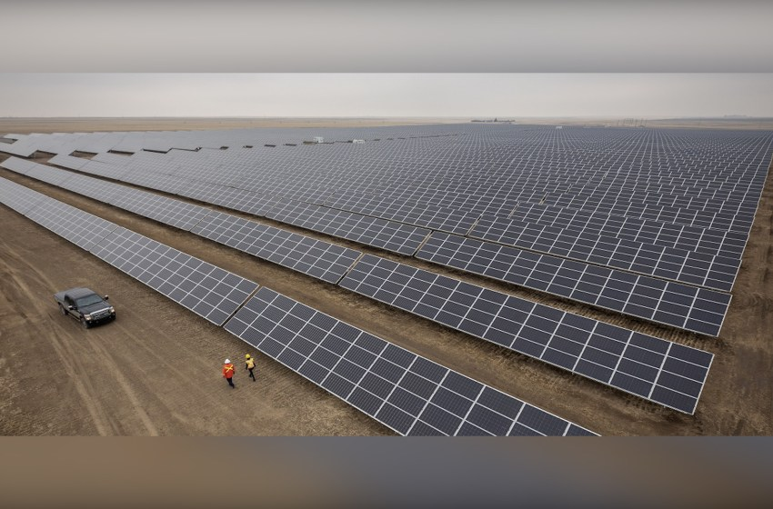 New solar facility near Burdett up and running