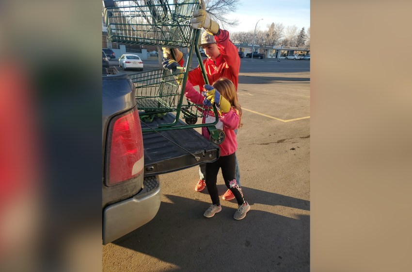 Local youth discusses cart retrieval business