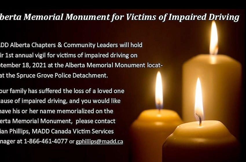 Victims of impaired driving to be immortalized on monument