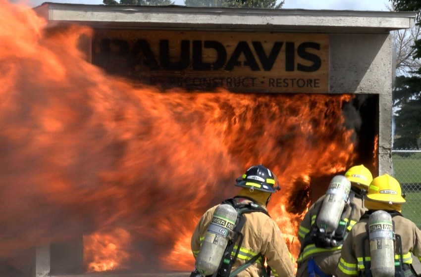 Fire and EMS recruits heat up for investigation training exercise