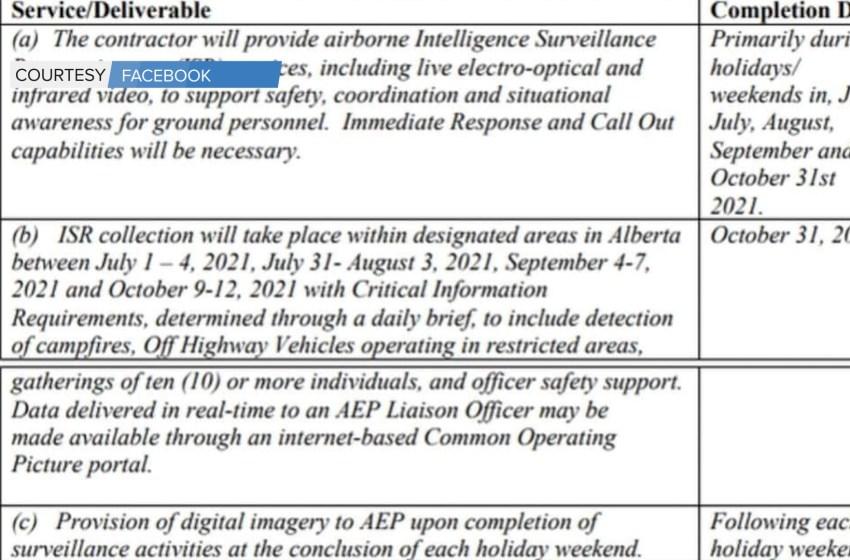 AB Gov't cancels drone surveillance request for proposals