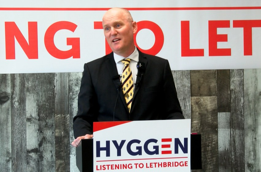 Blaine Hyggen officially launches mayoral campaign