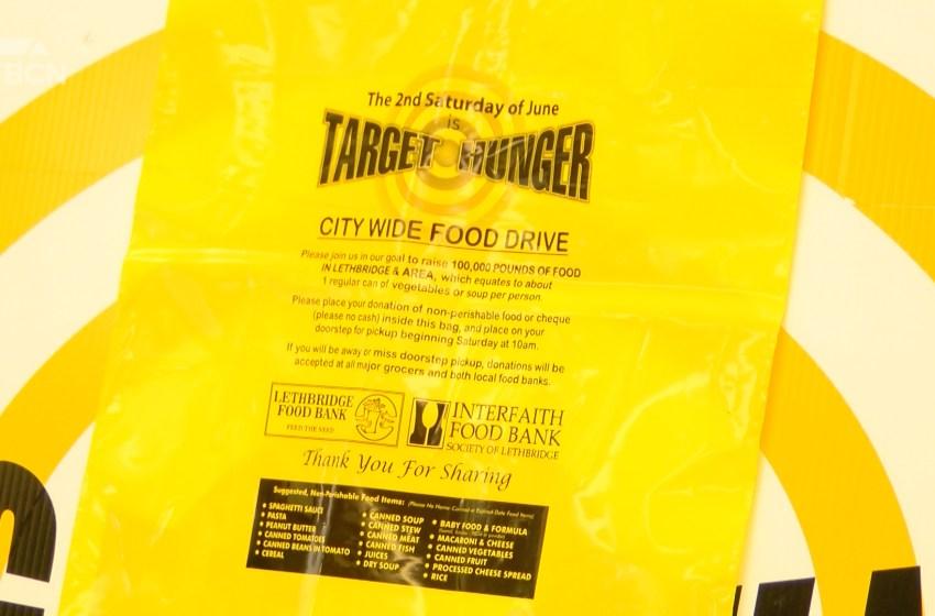 Lethbridge Food Banks set for Target Hunger pick up on Saturday