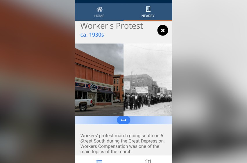 Historical side of Lethbridge featured in app