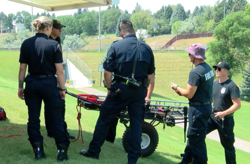 EMS and Lethbridge Fire Department train for rescue missions