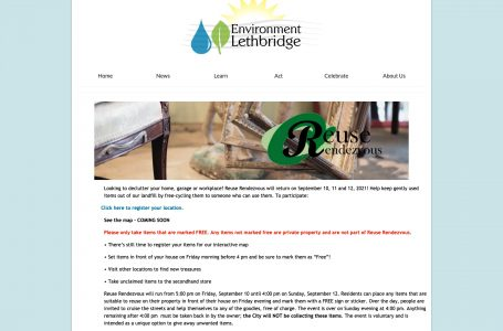 Environment Lethbridge gearing up for Reuse Rendezvous