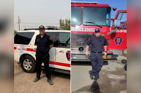 Stirling Fire Dept. sends two firefighters to help fight BC wildfires