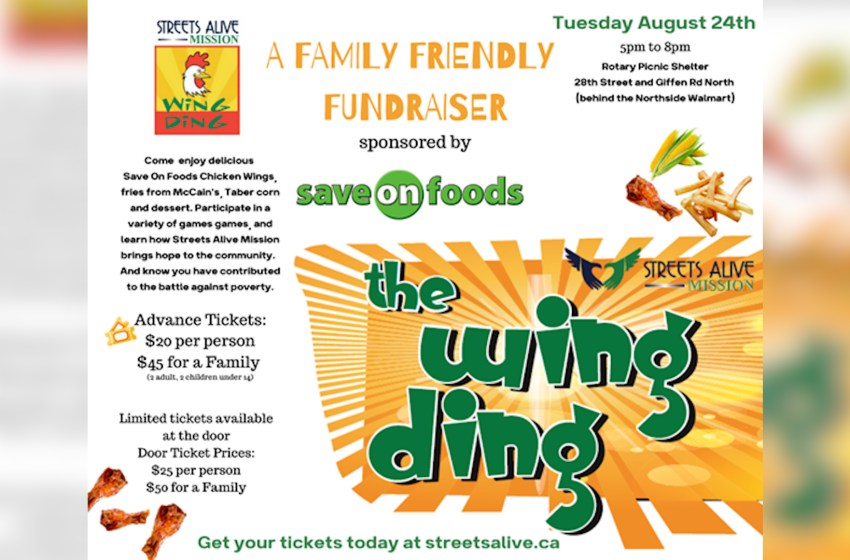 Streets Alive Mission hosting its annual WING DING on Aug. 24