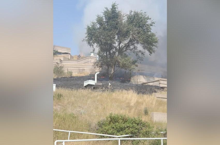Civilians help control fire before emerg crews arrive