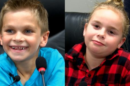 Two Taber children want to pursue careers in politics
