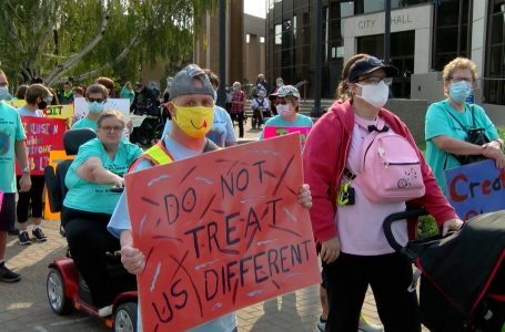 Citizen Walk About raising awareness of people living with disabilities held in Lethbridge