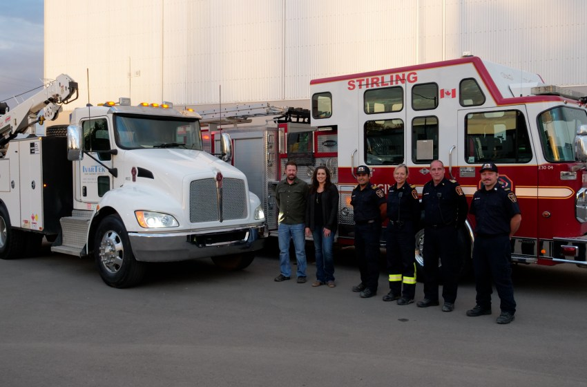 Stirling Fire Department forms partnership with IvarTek Heavy Equipment Services