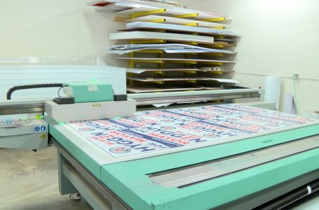 Local printing businesses seeing increase in sales thanks to large amount of campaign signs