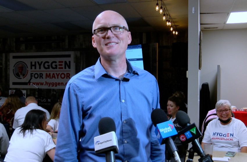 Blaine Hyggen wins election to become new mayor of Lethbridge