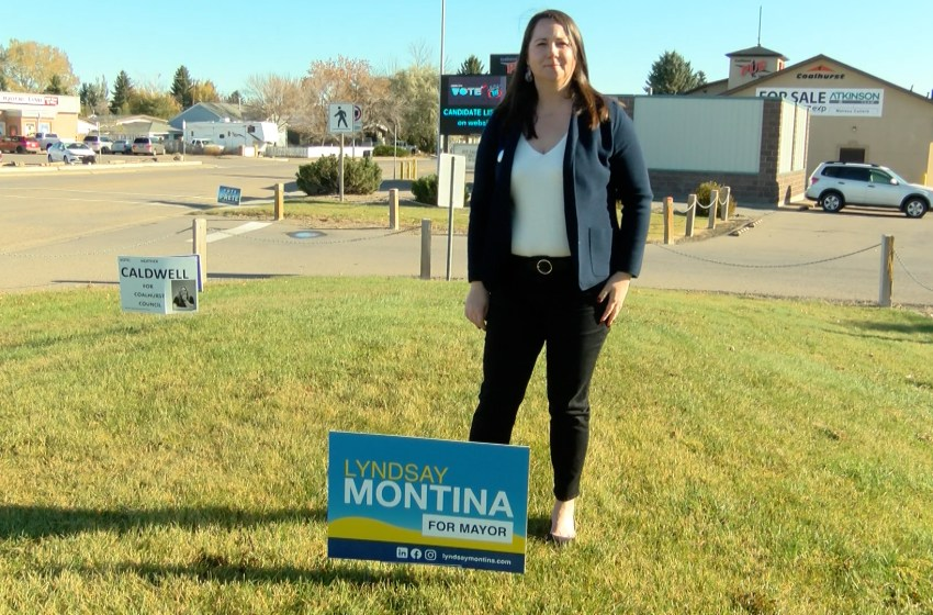 Lyndsay Montina vying for Coalhurst mayoral seat